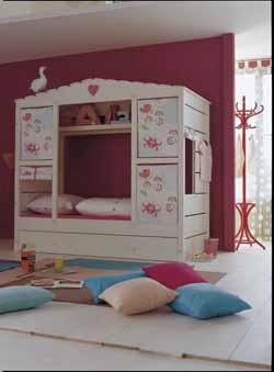 lit cabane gar on fly. Black Bedroom Furniture Sets. Home Design Ideas